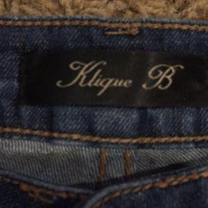 Klique B Shorts - Denim Cutoffs